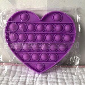 Purple Heart Shape Pop it push fidget toy
